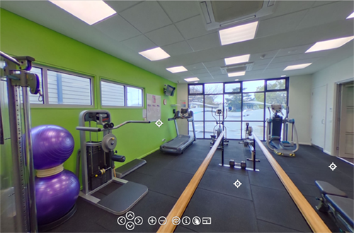 Scene from a 360 virtual tour can be viewed on iPad, iPhone, VR headset, laptop or PC computer
